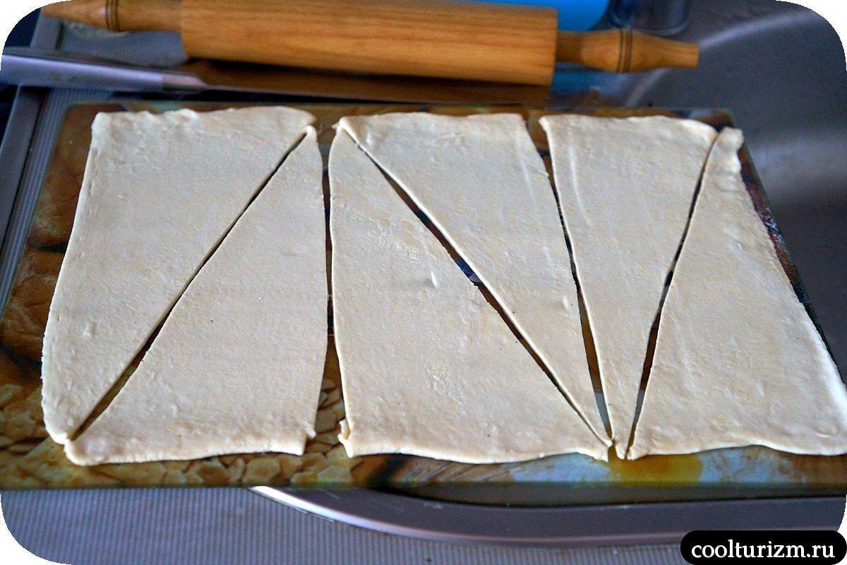 дрожжевое слоеное тесто для круассанов