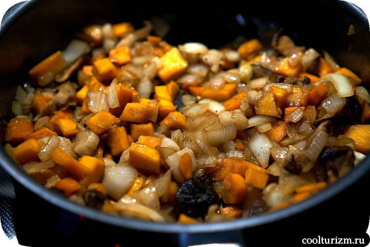 рецепт гречки с грибами шиитаке и луком