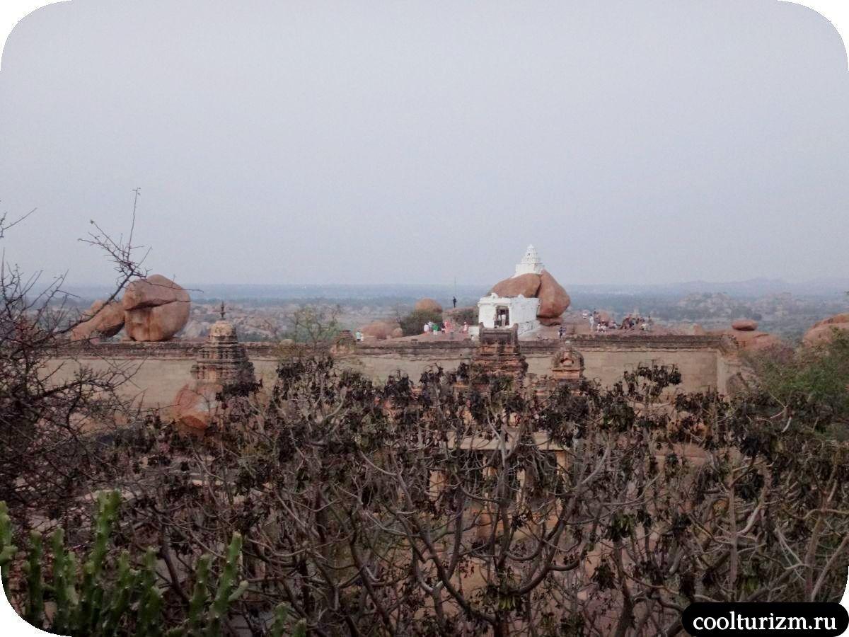 храм Ханумана Хампи холм Маляаванта