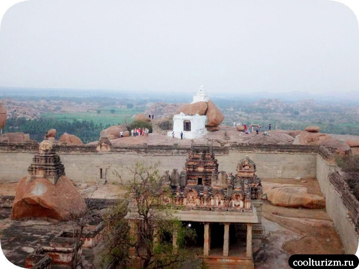 рассвет храм Рагуната Хампи Индия храм Ханумана
