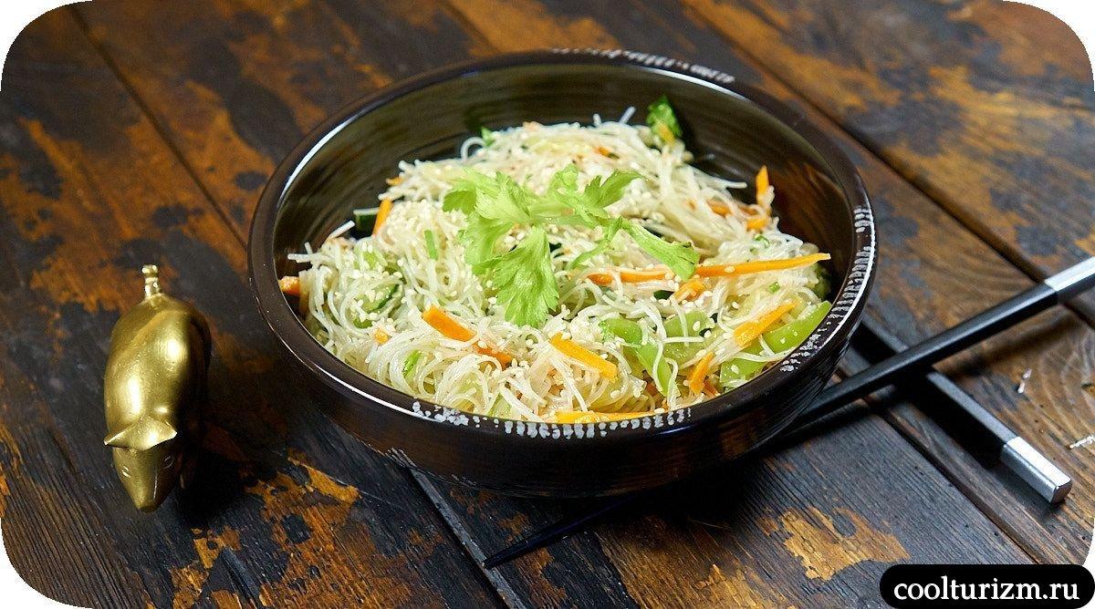 салат из фунчозы с овощами пошаговый рецепт с фото