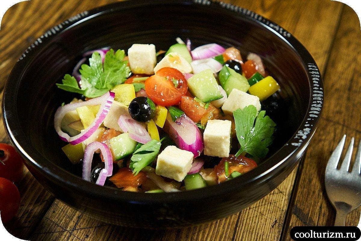 греческий салат простой рецепт с фото