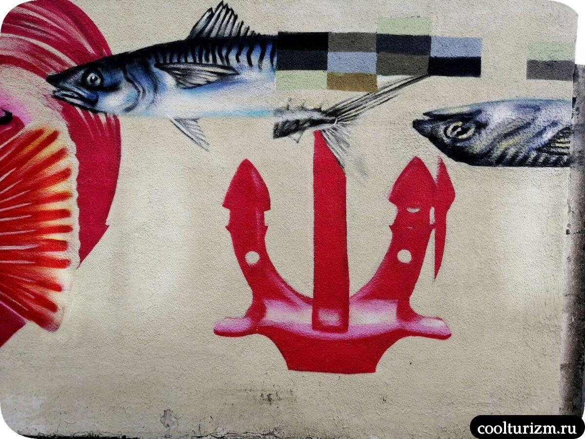 интересные достопримечательности Мурманска.Красивые граффити в Мурманске