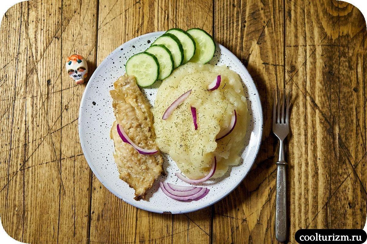 картофельное пюре с морским окунем рецепт с фото