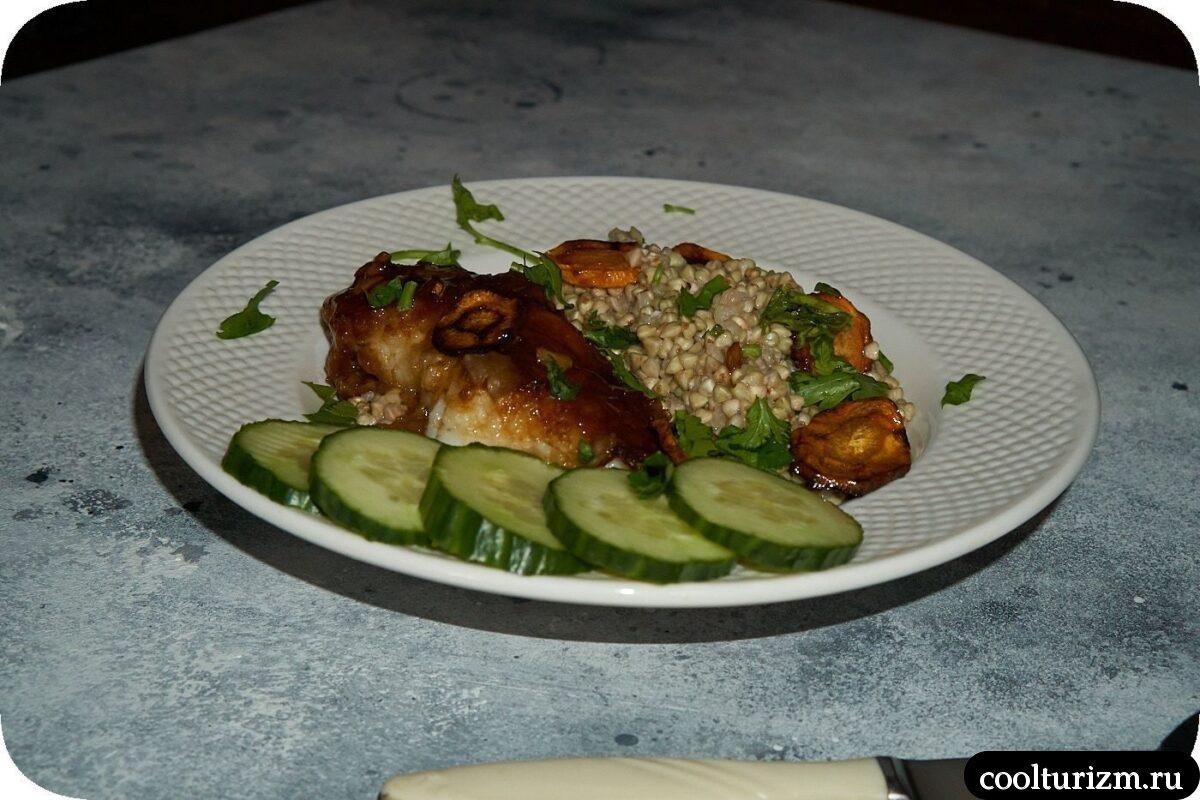 филе окуня с зеленой гречкой пошагово