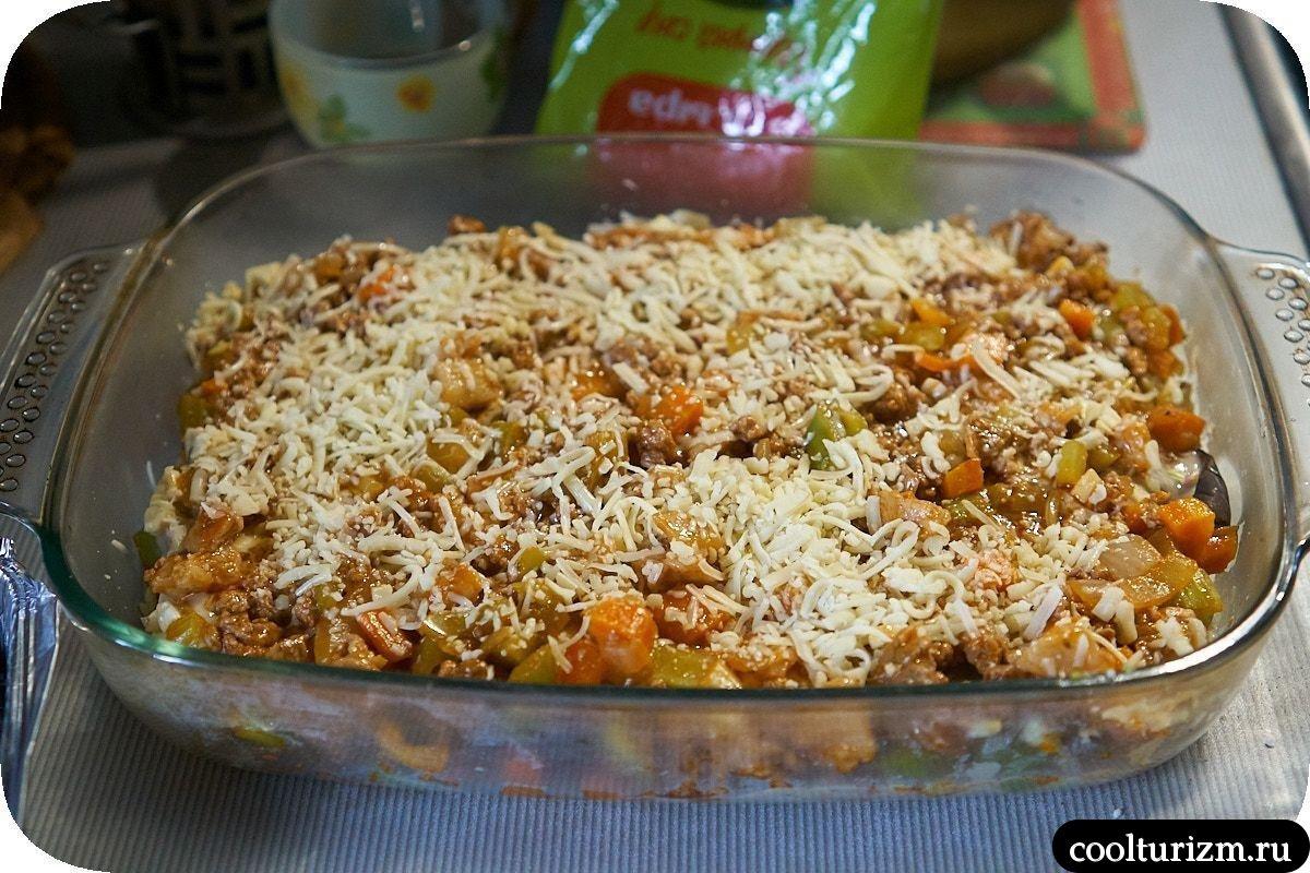 лазанья из баклажанов с фаршем пошаговый рецепт