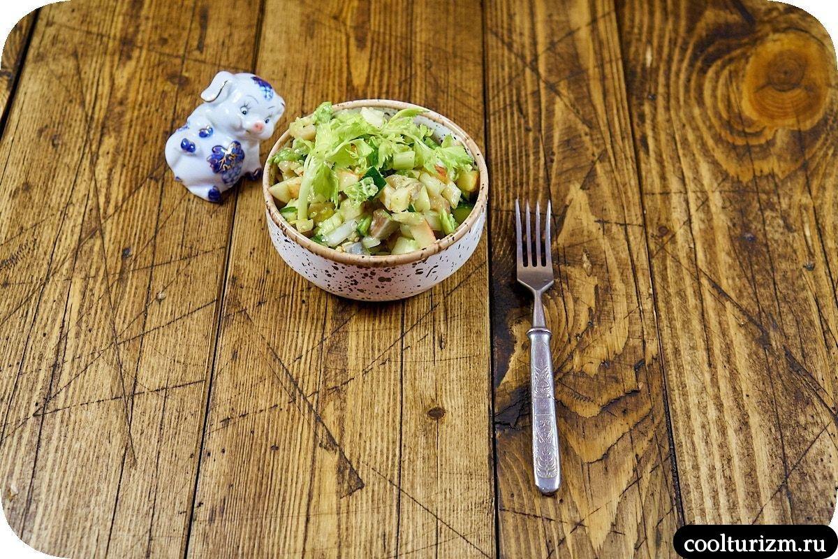 как приготовить салат с селедкой и яблоком