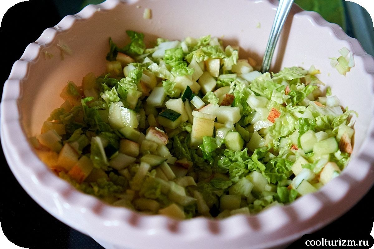 рецепт с фото салат с селедкой и яблоком