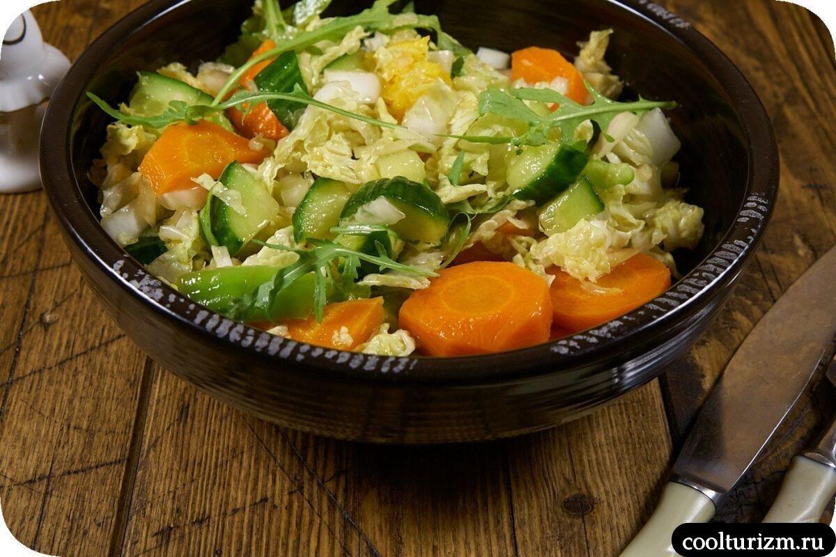 салат из вареной моркови с пекинской капустой пошаговый рецепт