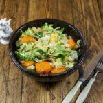 Салат из вареной моркови с пекинской капустой