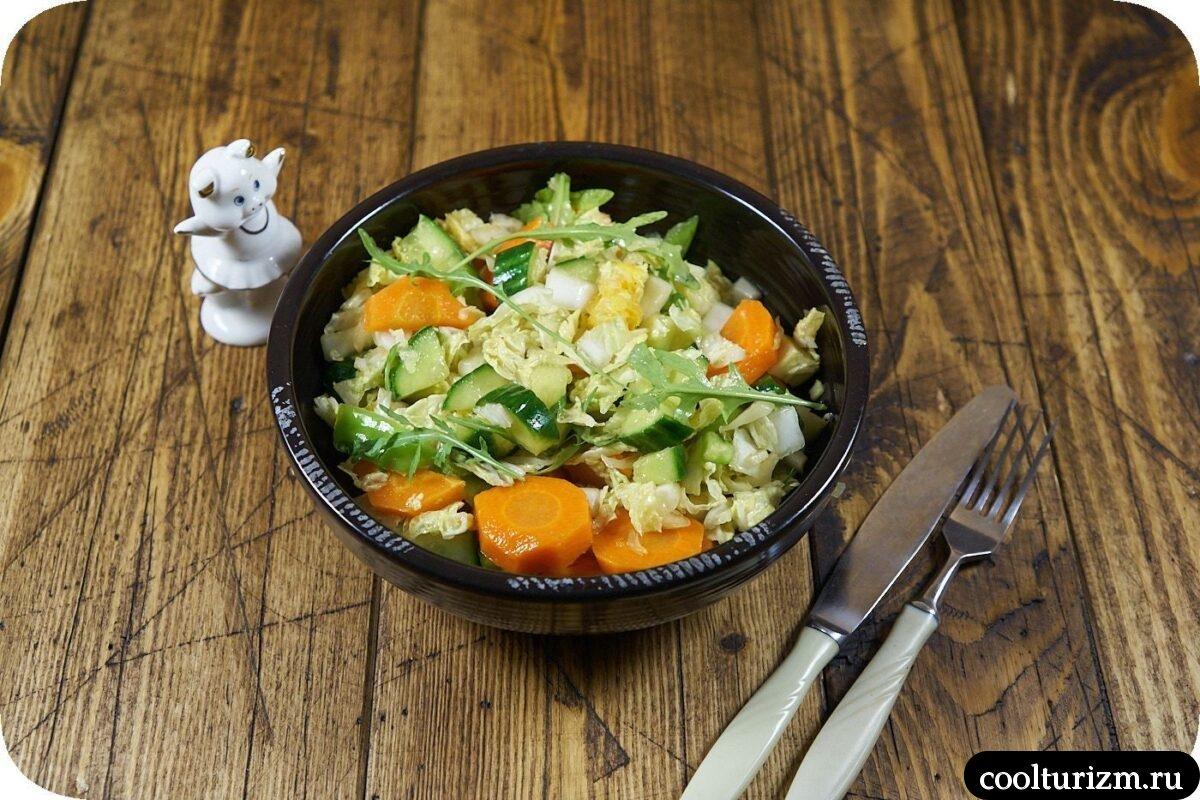 пошаговый рецепт салата из пекинской капусты и моркови