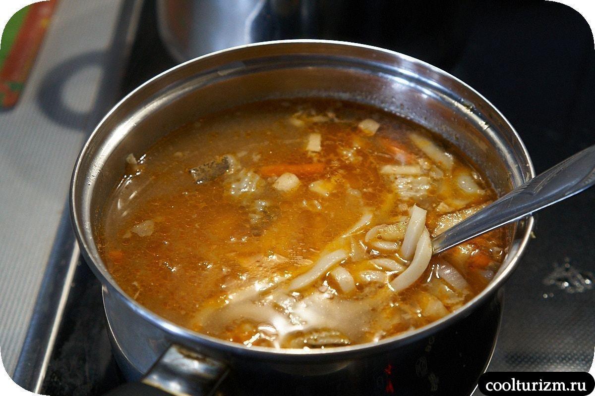 как приготовить рыбный суп с лапшой удон