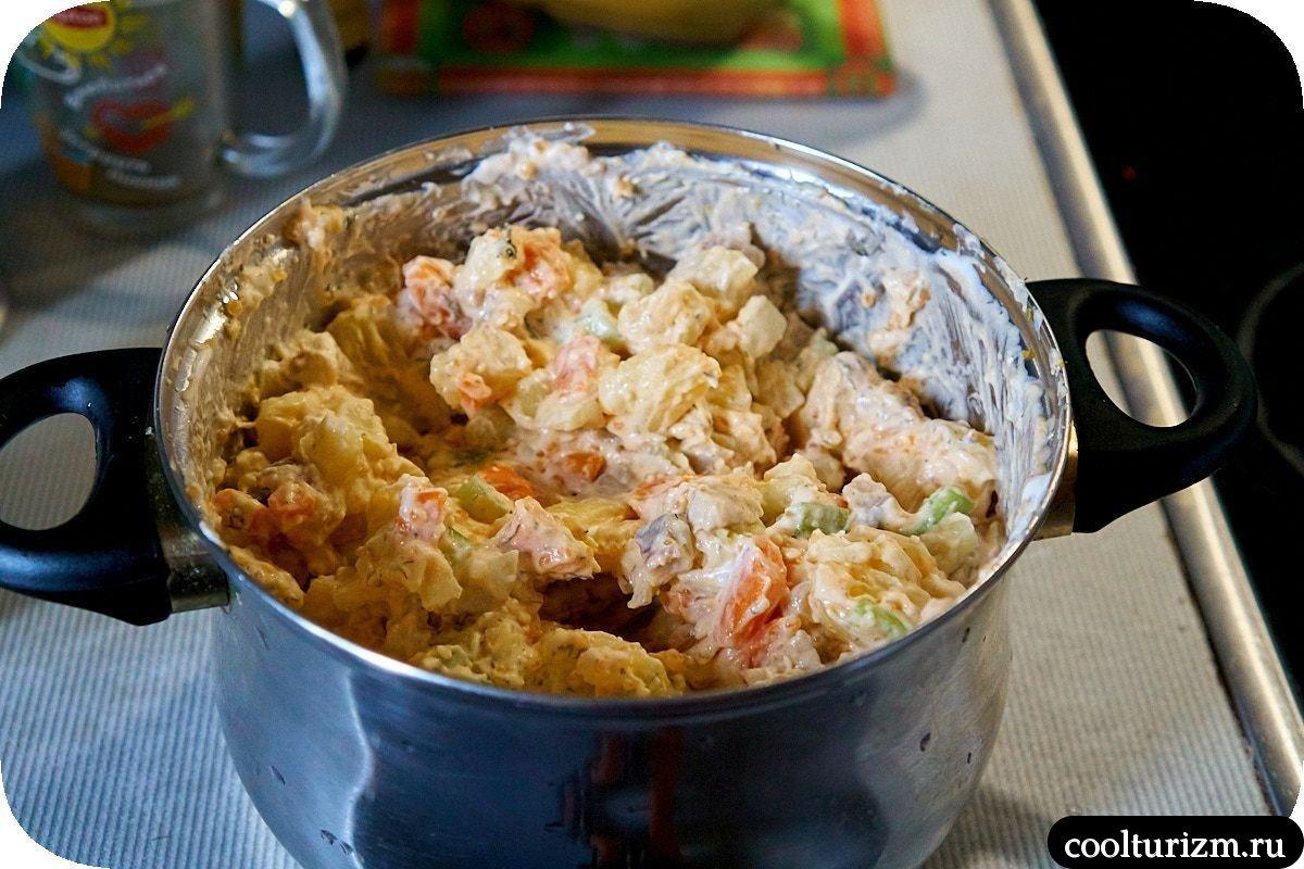 как приготовить салат из скумбрии и картофеля