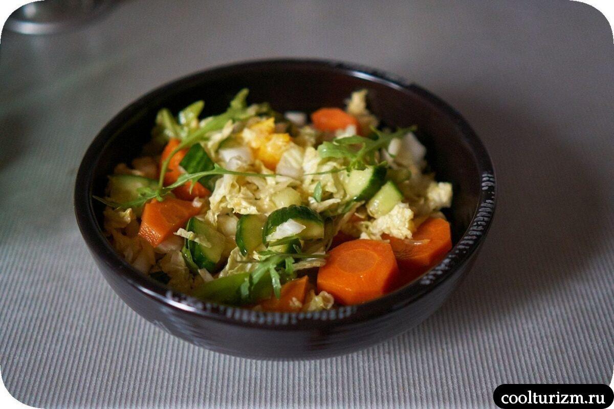 как приготовить салат из пекинской капусты и моркови