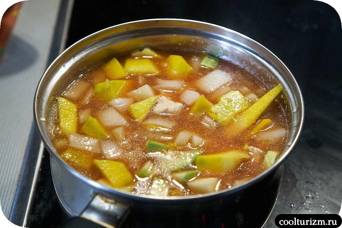 тыквенный суп пюре из овощей с курицей рецепт