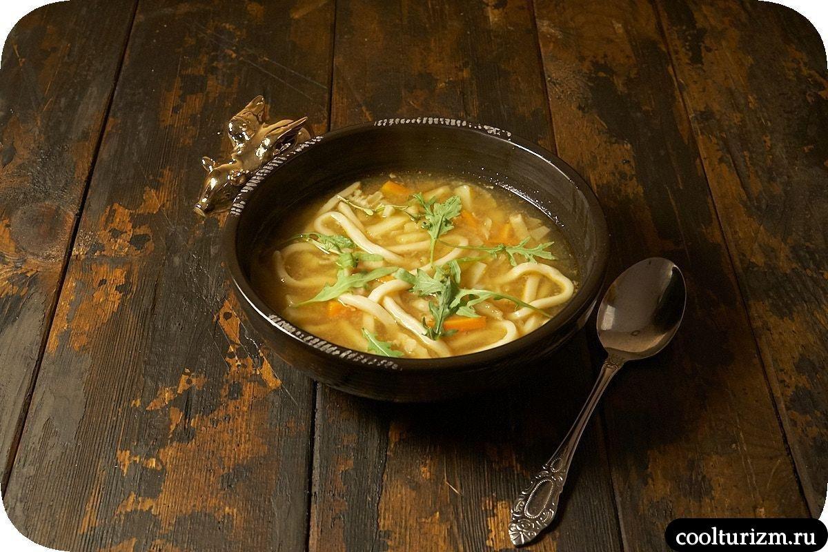 рыбный суп с лапшой удон рецепт с фото