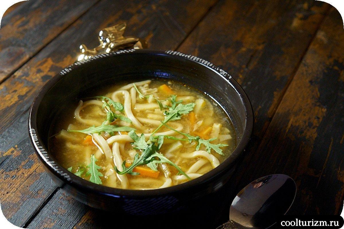 рыбный суп с лапшой удон