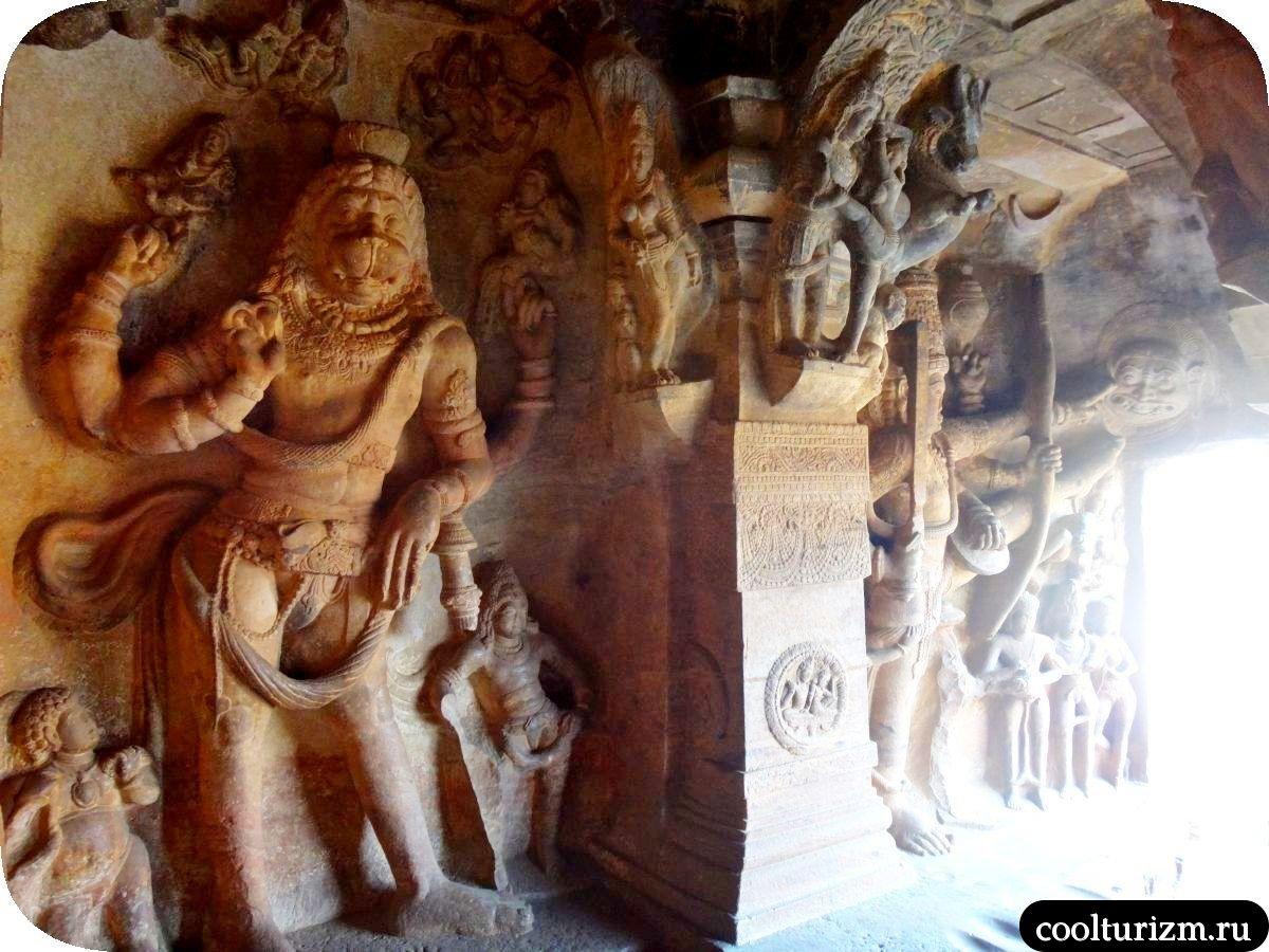 Нарасимха аватар Вишну и храм Вишну в Бадами