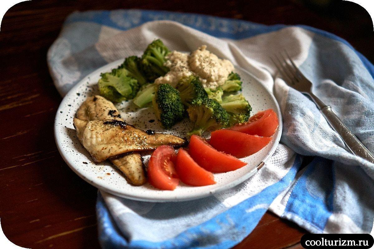 как приготовить рецепт вкусной камбалы с брокколи на сковороде