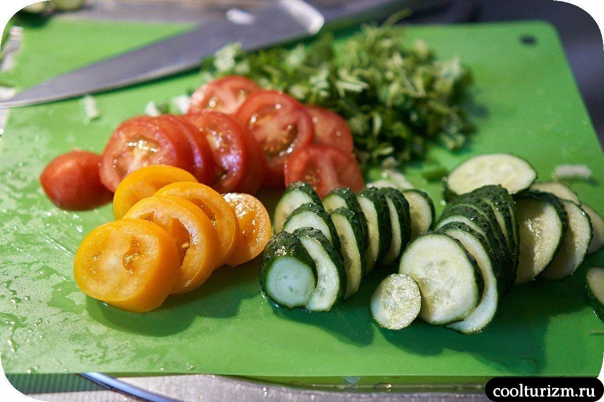 салат с лавашом зелень