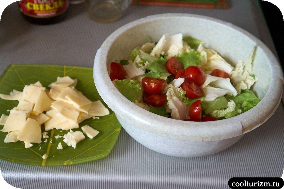 зеленый салат с кальмарами рецепт
