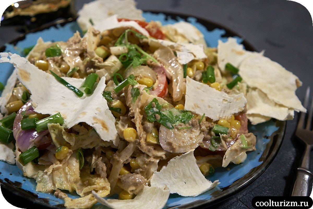 как приготовить салат с лавашом