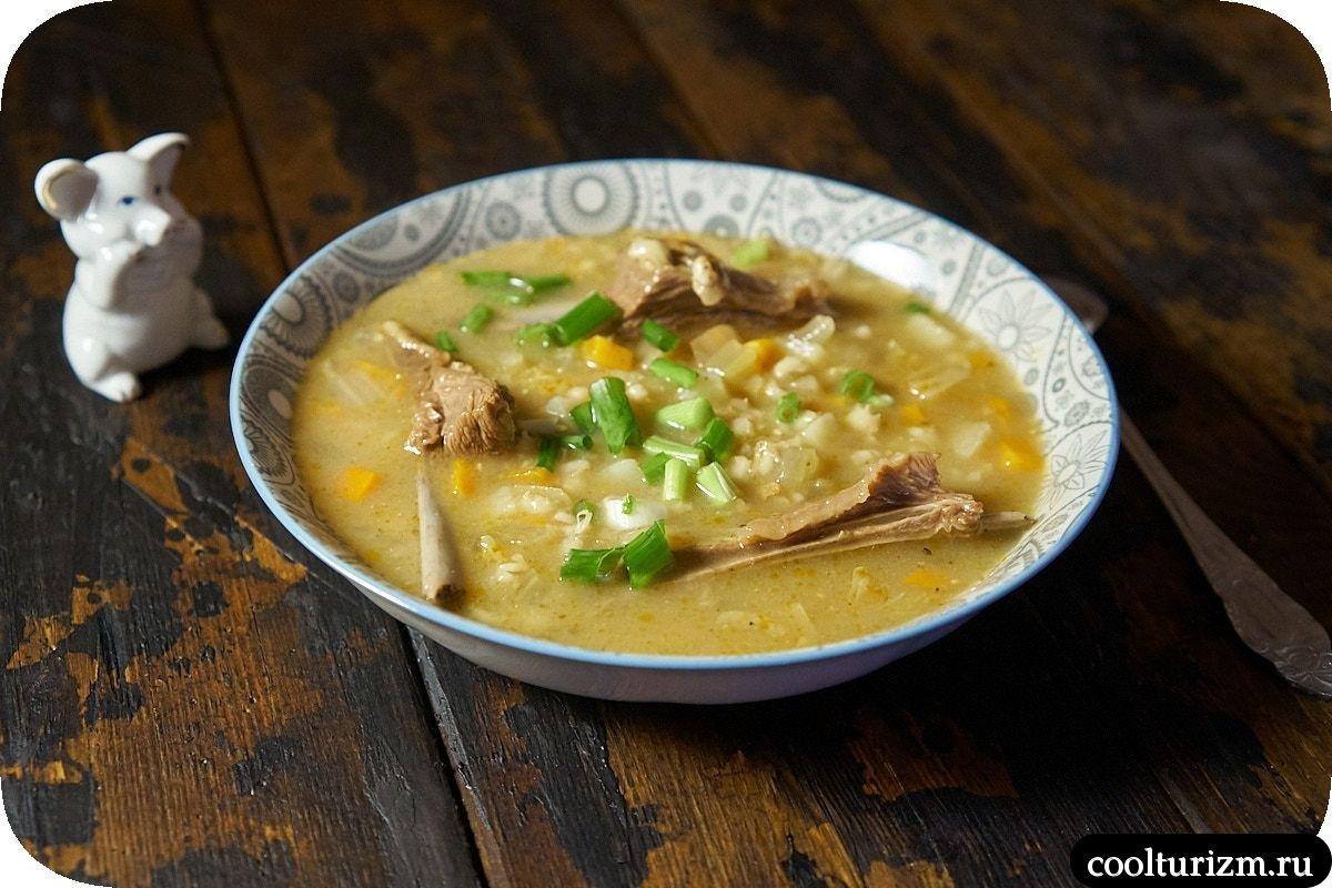суп с бараньими ребрышками и перловкой пошаговый рецепт