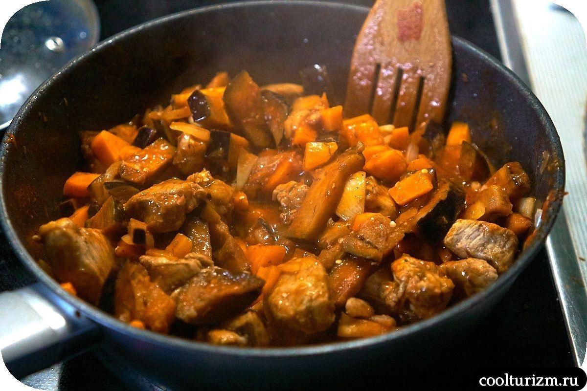 плов из гречки с баклажанами и мясом пошаговый рецепт