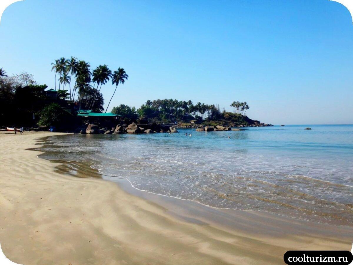 пляж Палолем Южное Гоа март