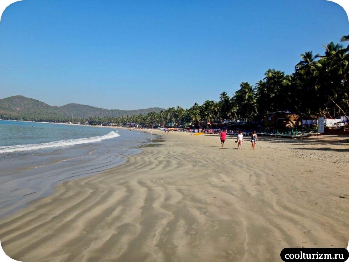 лучший пляж Палолем Южное Гоа
