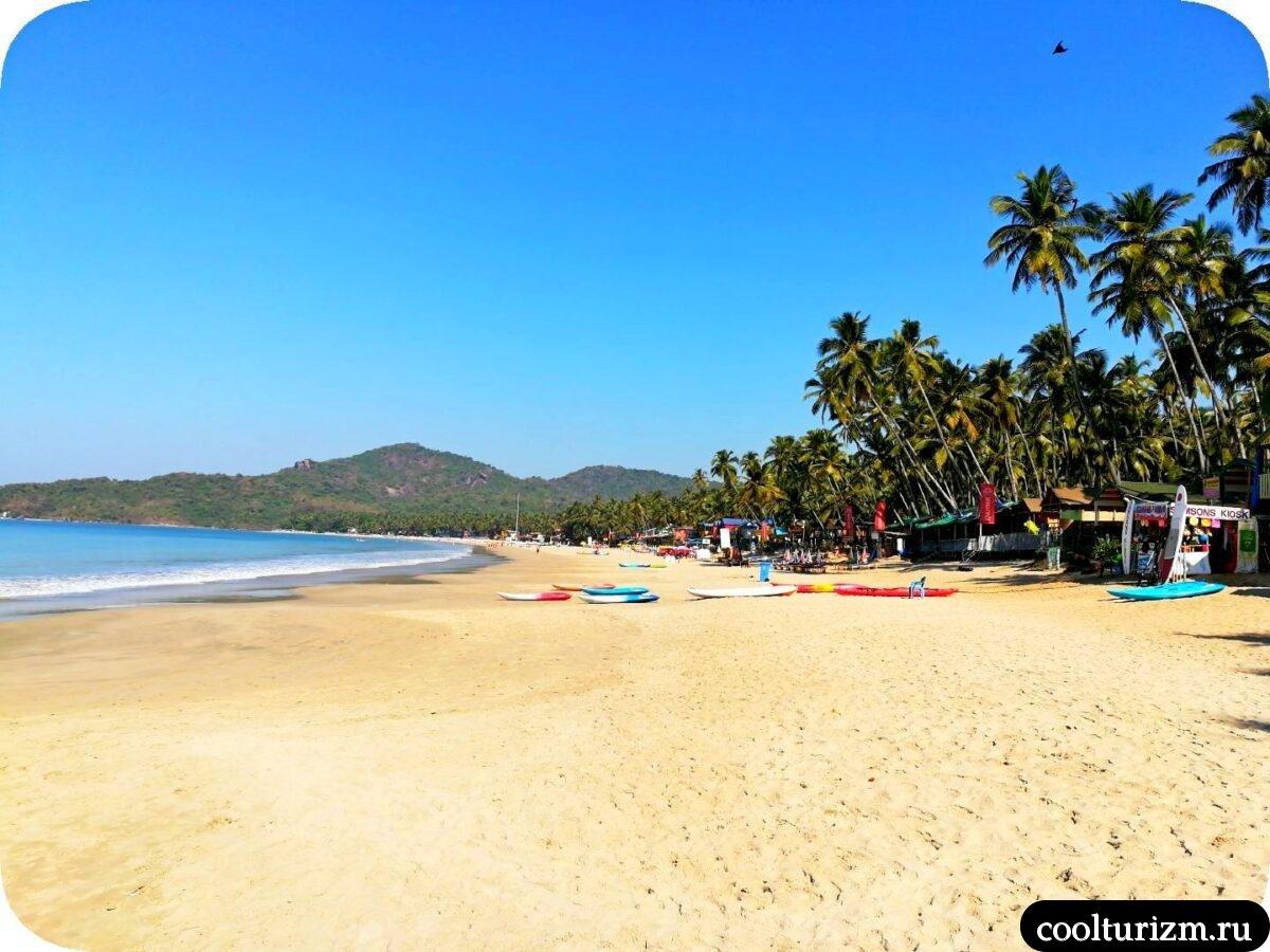 пляж Палолем Южное Гоа какой пляж лучше