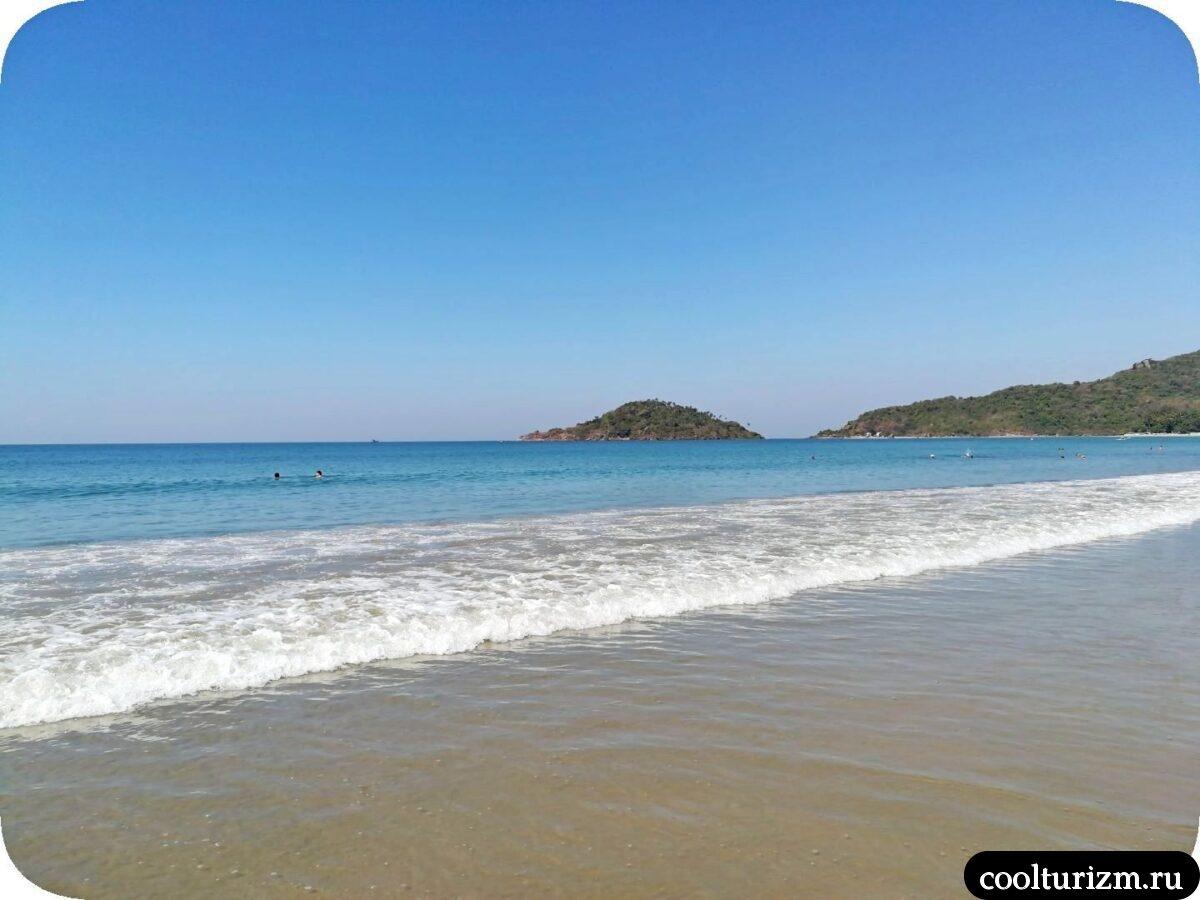 тихий пляж Палолем Южное Гоа