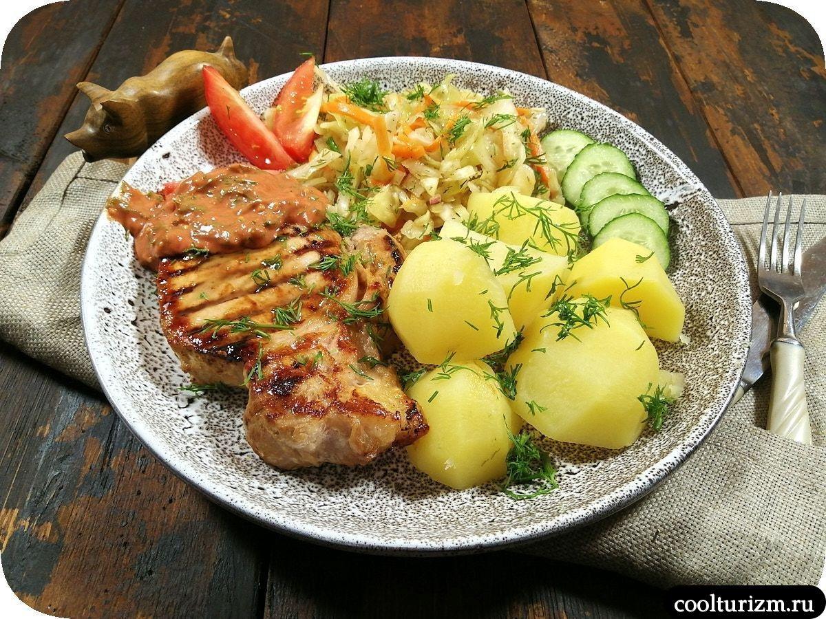 корейка с картошкой и корейской капустой