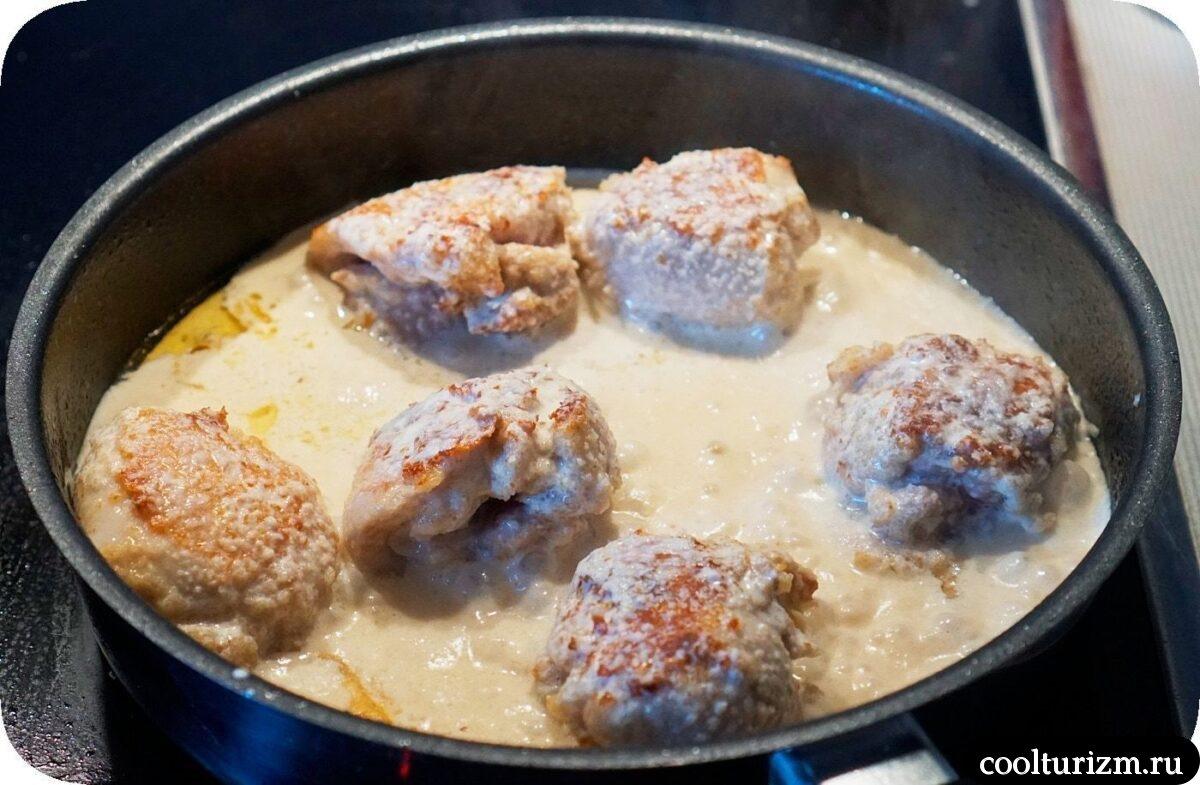 куриные бедра в сливках рецепт