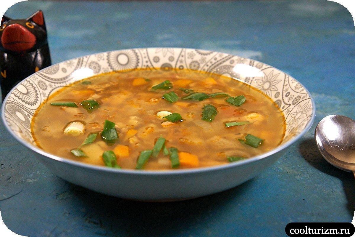 суп из вешенок с форелью