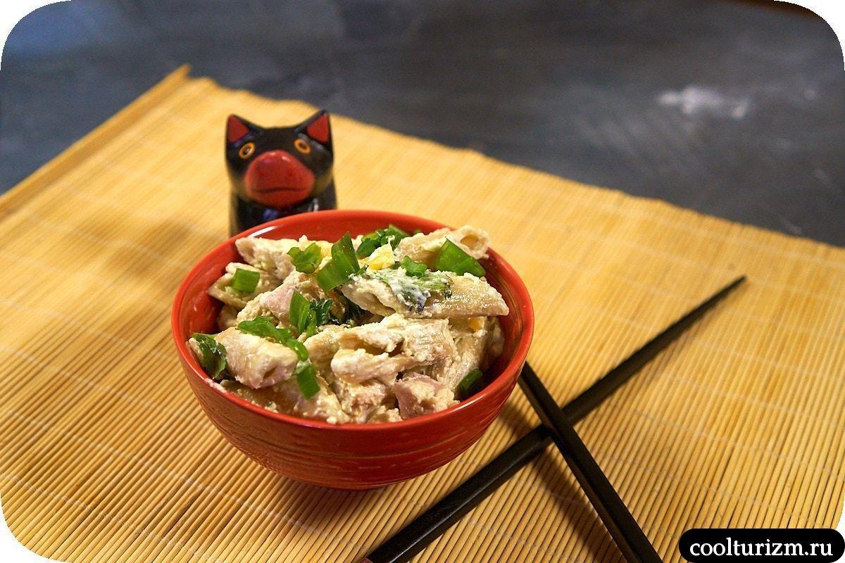 как приготовить японский салат с макаронами