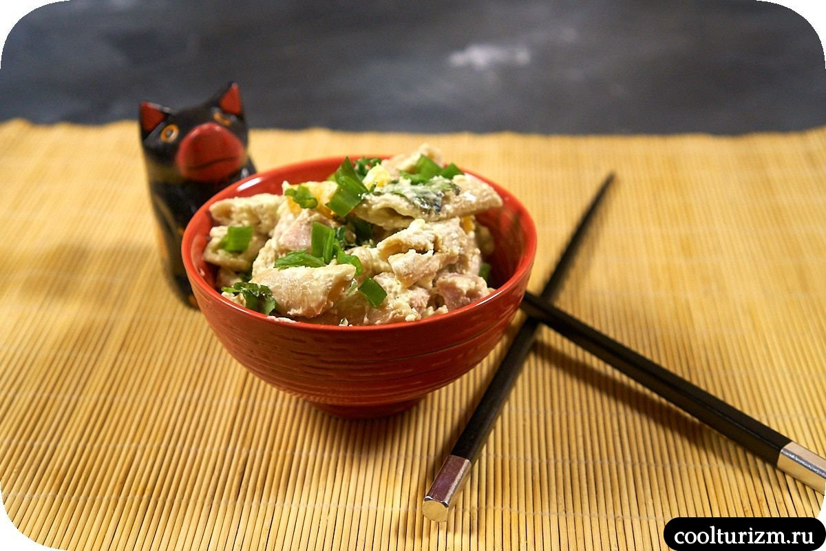 японский салат с макаронами