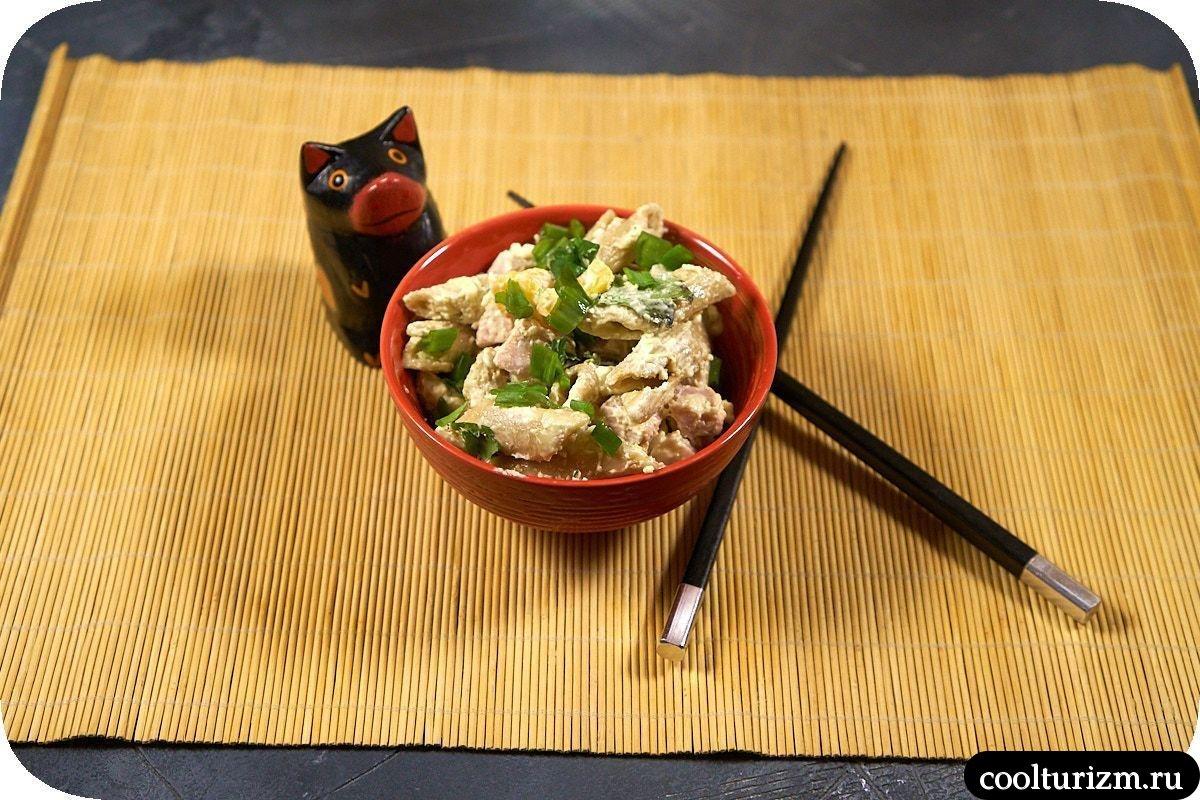 японский салат с макаронами рецепт