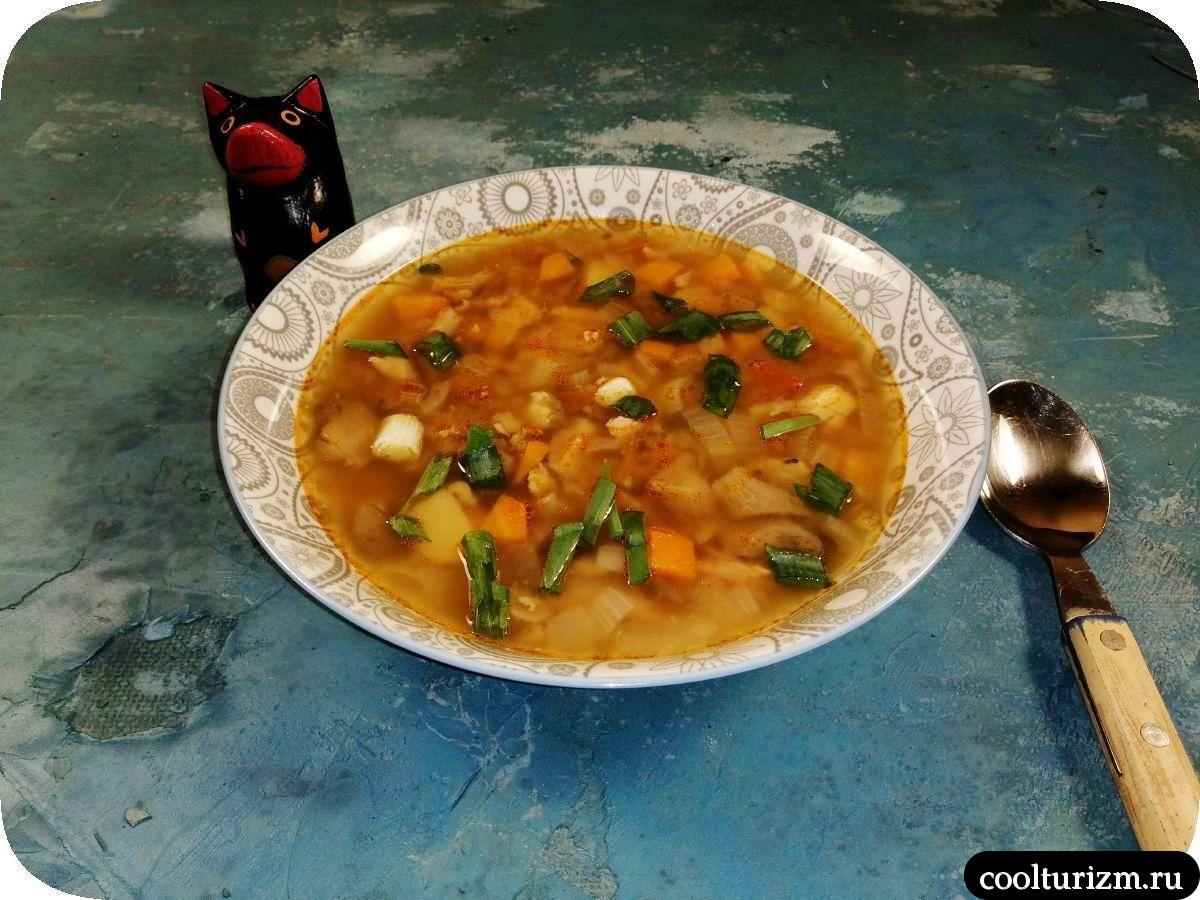 суп из вешенок с форелью рецепт