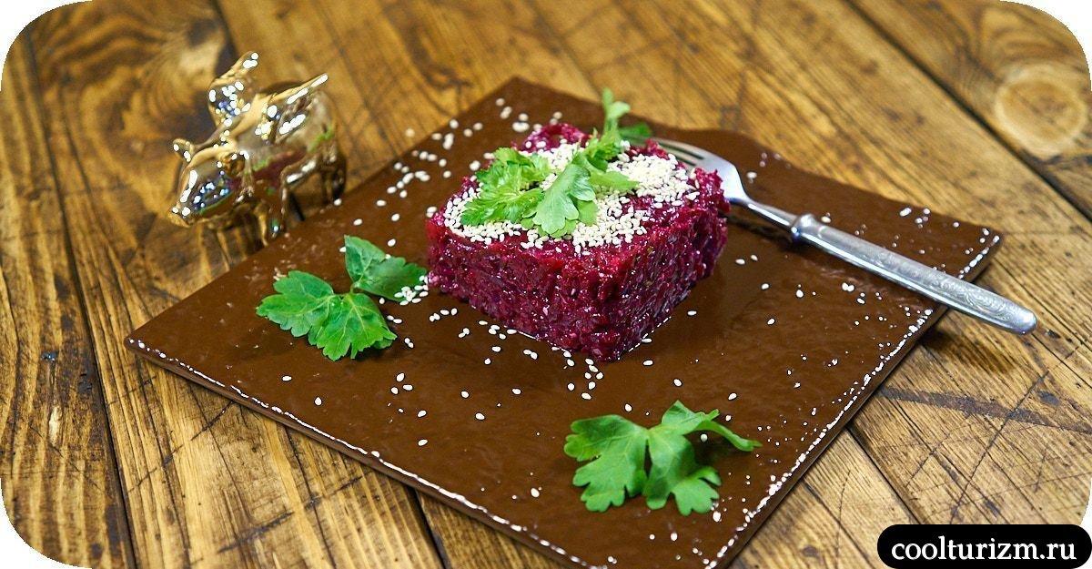 скумбрия со свеклой салат рецепт