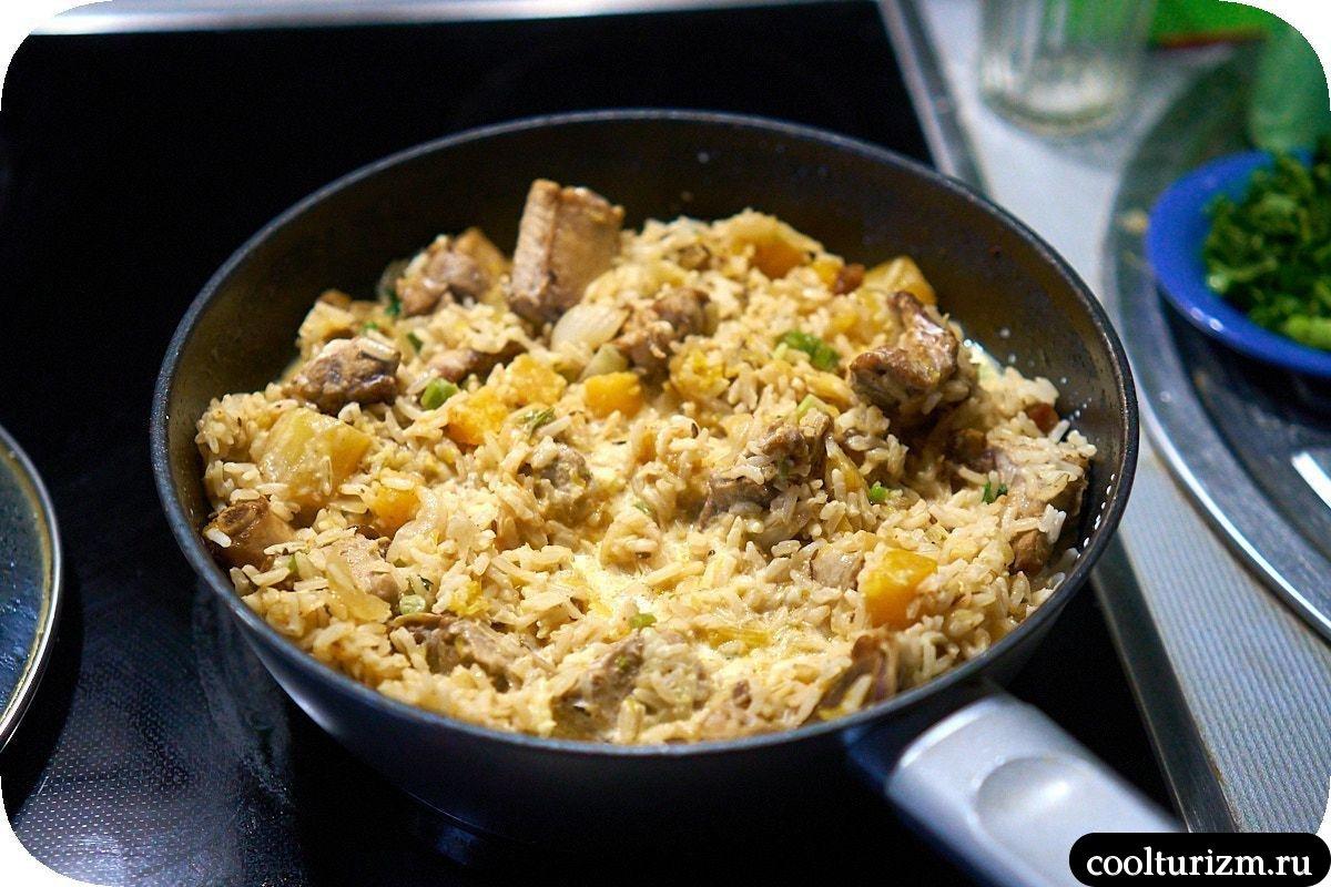 бурый рис со сливками пошаговый рецепт