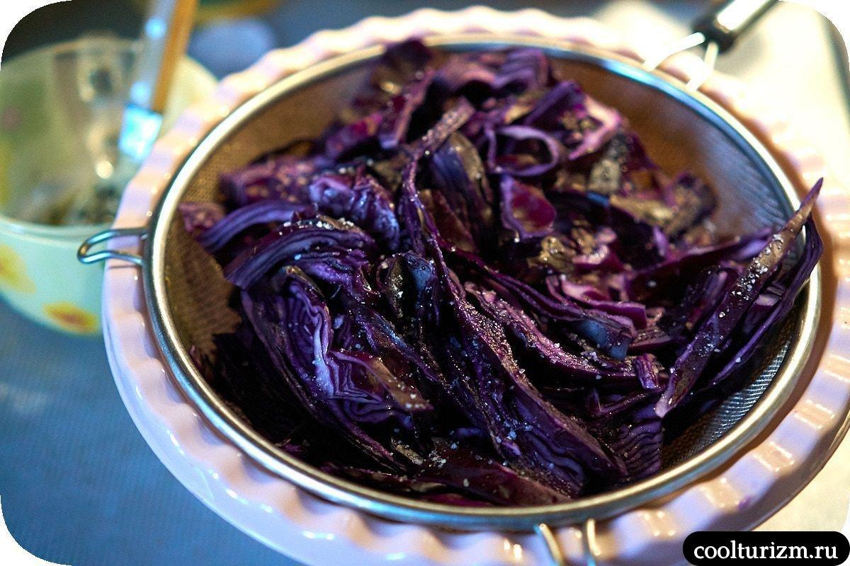 краснокочанная капуста маринованная рецепт