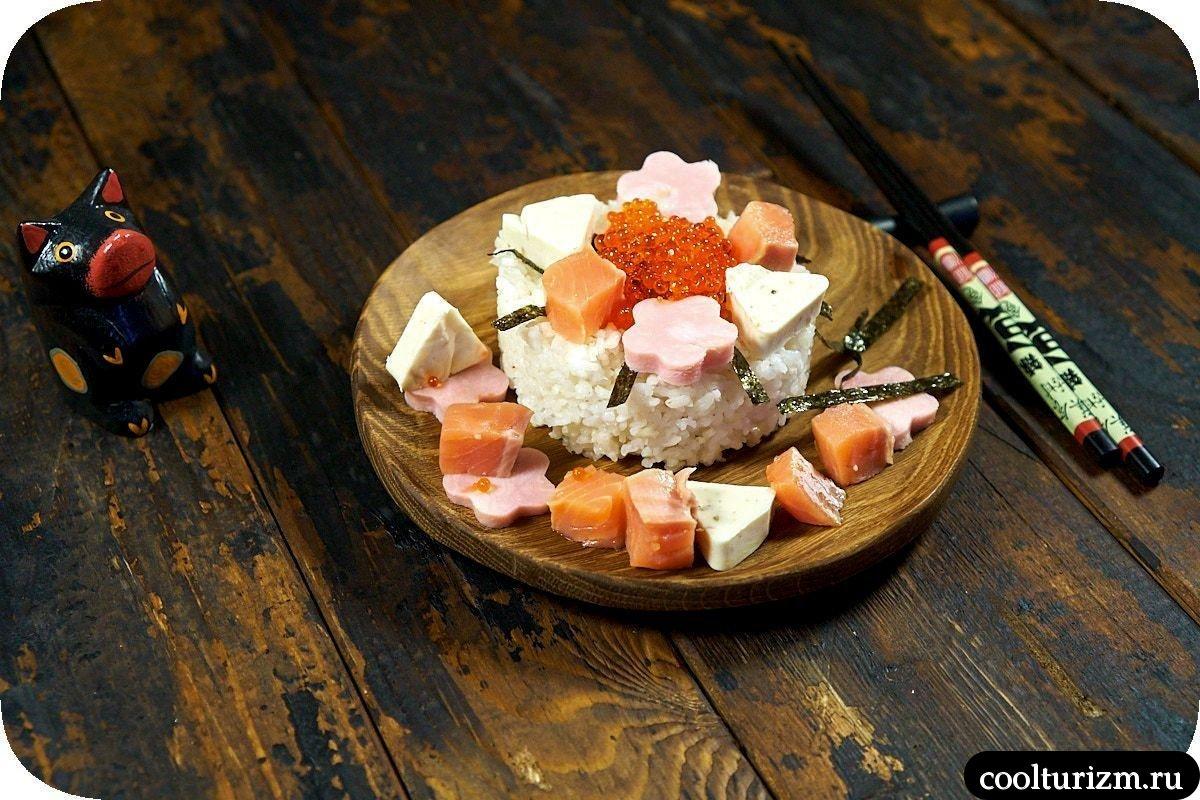 легкий рецепт салата шираши суши