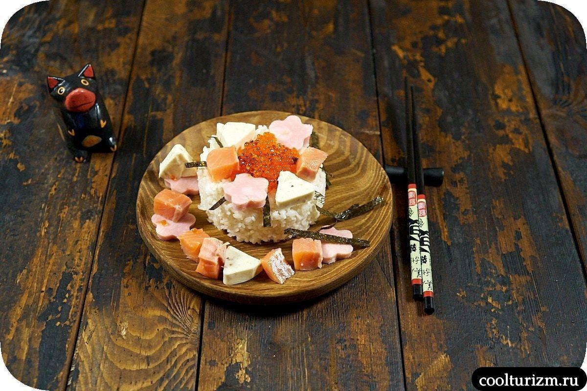 рецепт салата шираши суши ленивые суши