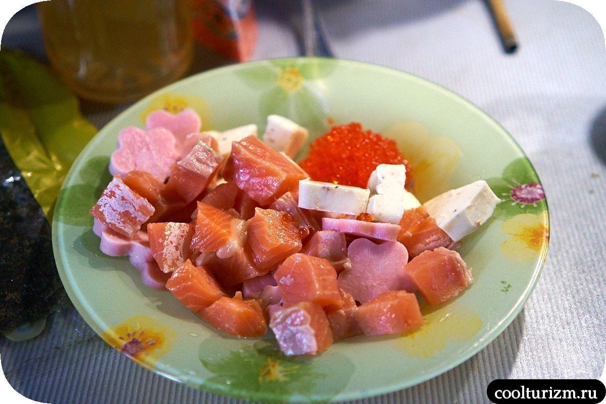 рецепт салата шираши суши салат суши