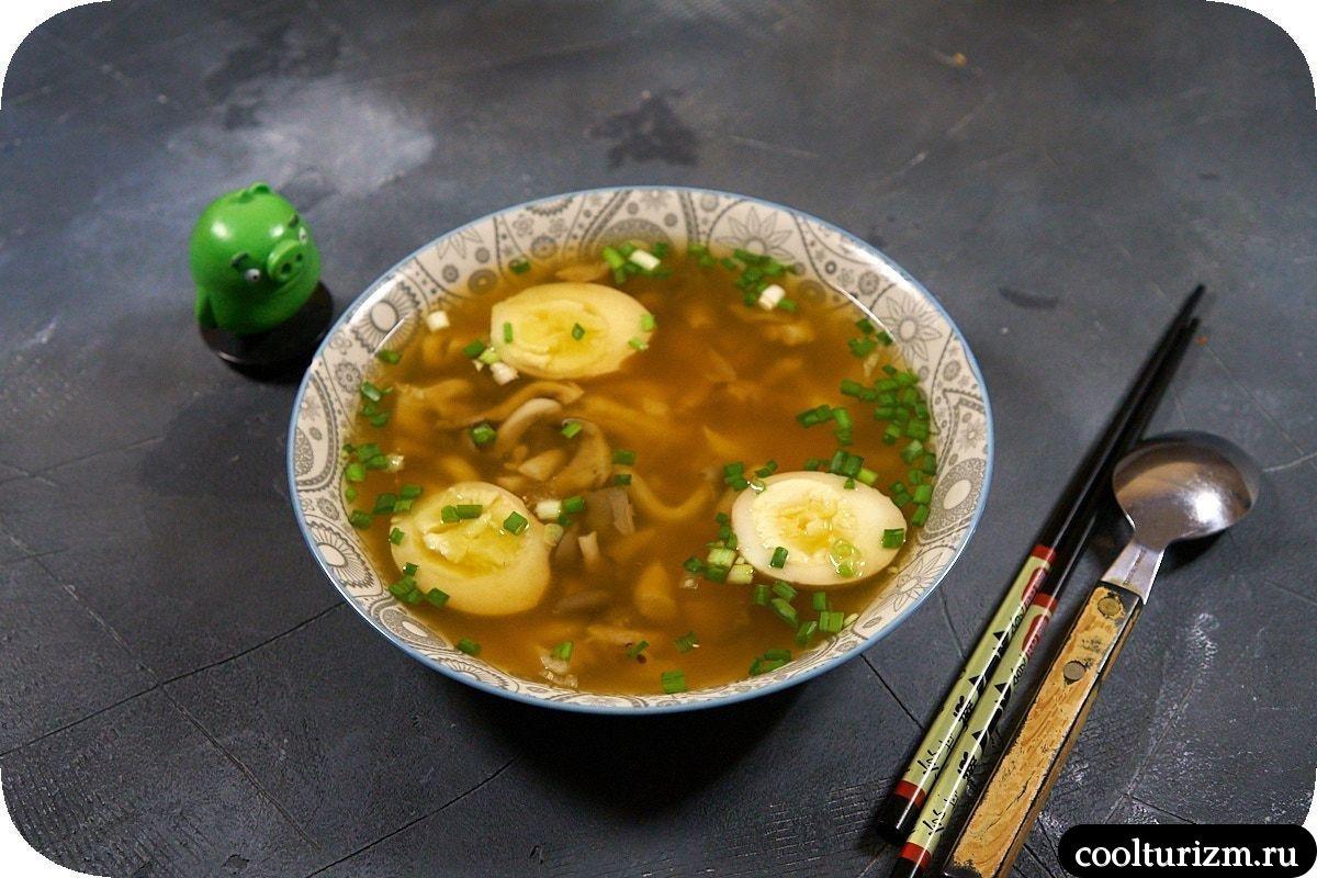 суп с вешенками в азиатском стиле