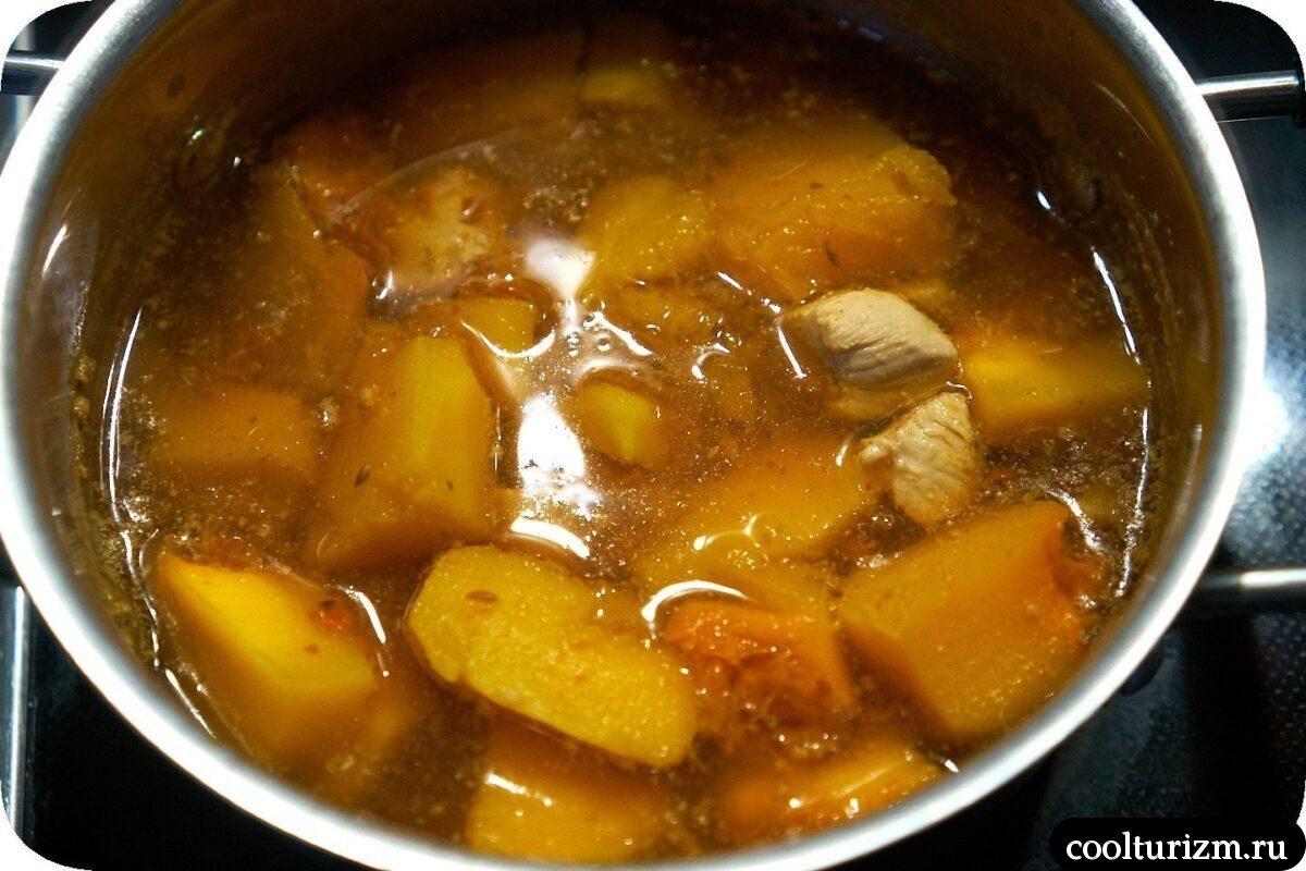 суп-пюре из тыквы на Хэллоуин рецепт