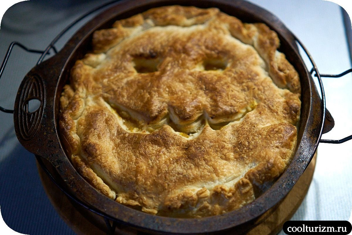 тыквенный пирог блюда на Хэллоуин