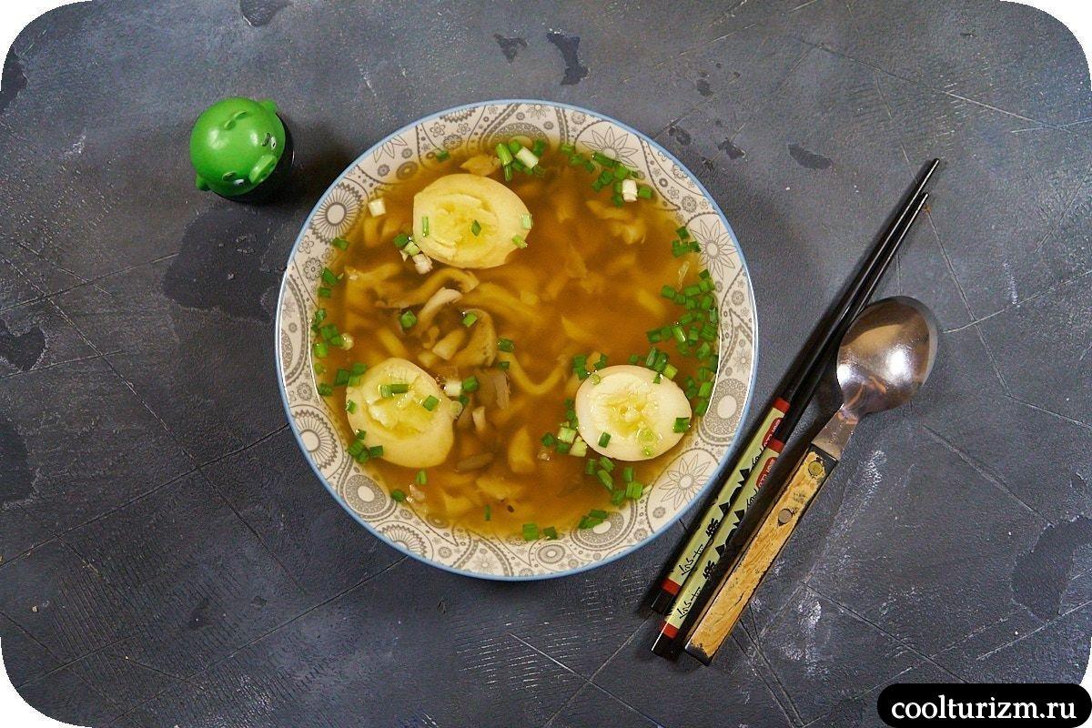 как приготовить суп с вешенками в азиатском стиле