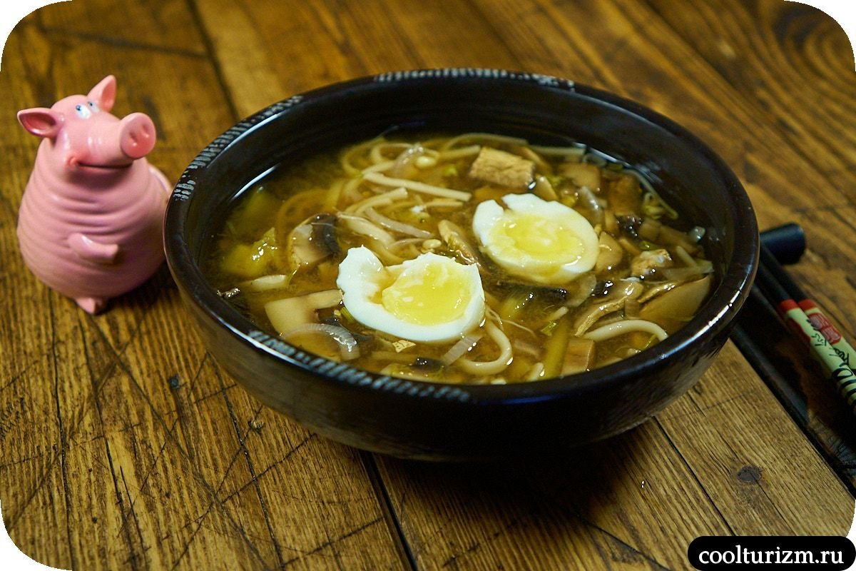 домашний мисо суп с грибами рецепт
